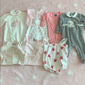 Lot of 7 baby girl designer outfits